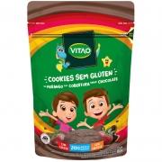 Cookie s/ glúten sabor morango c/ cobertura de chocolate linha kids 80g - Vitao - 01 un