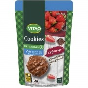 Cookie de morango c/ cobertura de chocolate ao leite zero 80 g - Vitao - 01 un