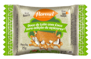 Tablete de doce de leite c/ coco zero - Flormel - unidade
