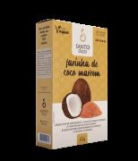 Farinha de coco marrom 200 g - Santo Óleo - 01 un