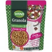 Granola tradicional integral sabor cacau e coco 800 g - Vitao - 01 un