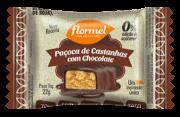Paçoca de castanhas c/ chocolate zero - Flormel - unidade