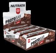 Barra de proteína protobar choco whey sabor chocolate meio amargo c/ nibs de cacau - Nutrata - cx x/ 08 un.