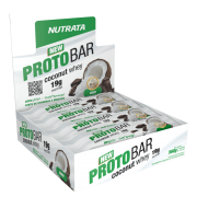 Barra de proteína protobar coconut whey sabor coco 70g - Nutrata - cx c/ 08 un