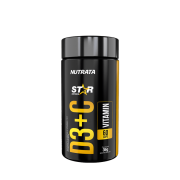 Vitamina d3 + c 60 cápsulas linha star - Nutrata - 01 un