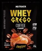 Whey grego coffee cream sabor caramelo sachê - Nutrata - unidade