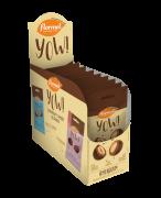 Drageado de chocolate ao leite yow sabor amendoim - Flormel - cx c/ 08 un.