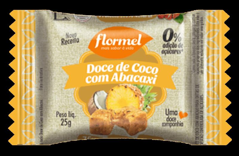 Doce de coco c/ abacaxi zero - Flormel - unidade