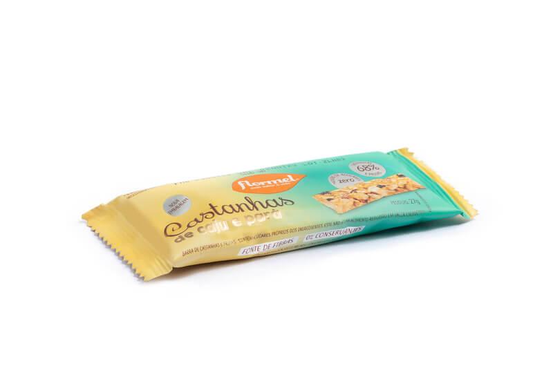 Barra de cereal castanhas de caju e pará zero - Flormel - cx c/ 15 un.