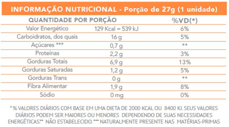 Barra de cereal castanhas de caju c/ avelã zero - Flormel - caixa c/ 15 un