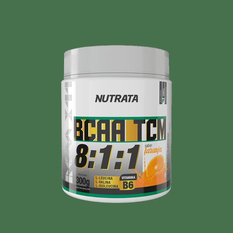 Bcaa 8:1:1 c/ tcm sabor laranja 300 g - Nutrata