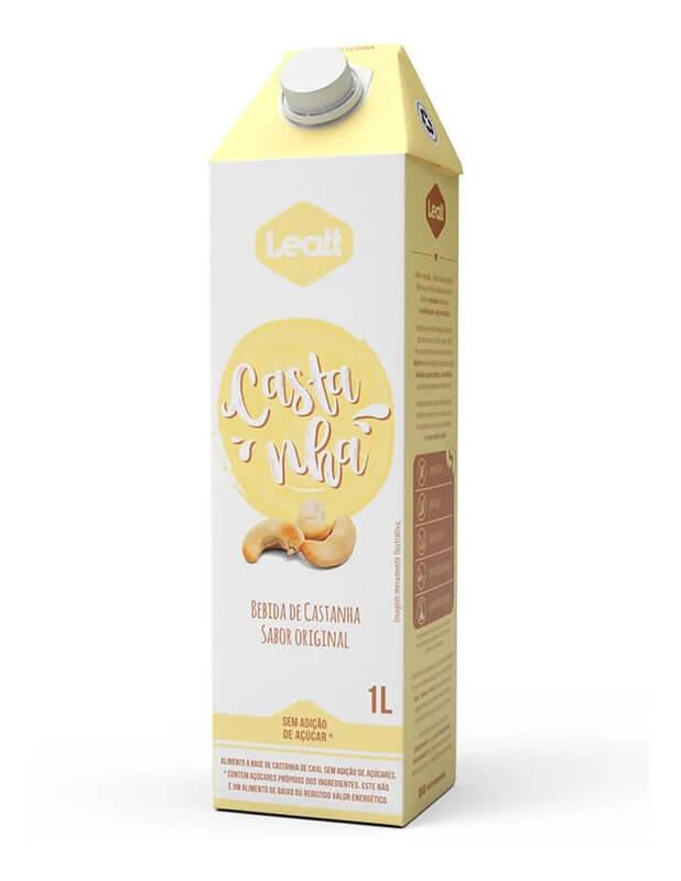 Bebida vegetal de castanhas original - Leatt - 01 un