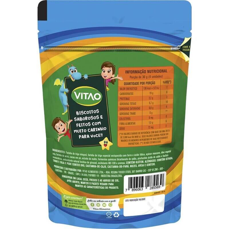Biscoito integral de chocolate linha kids 80g - Vitao - 01 un