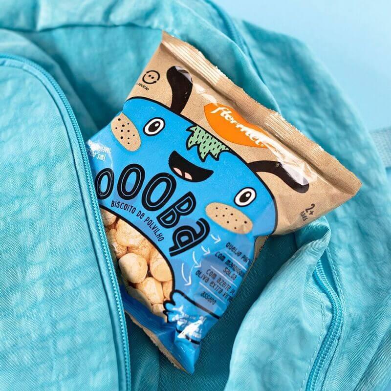 Biscoito de polvilho oooba sabor queijo - Flormel - 01 un