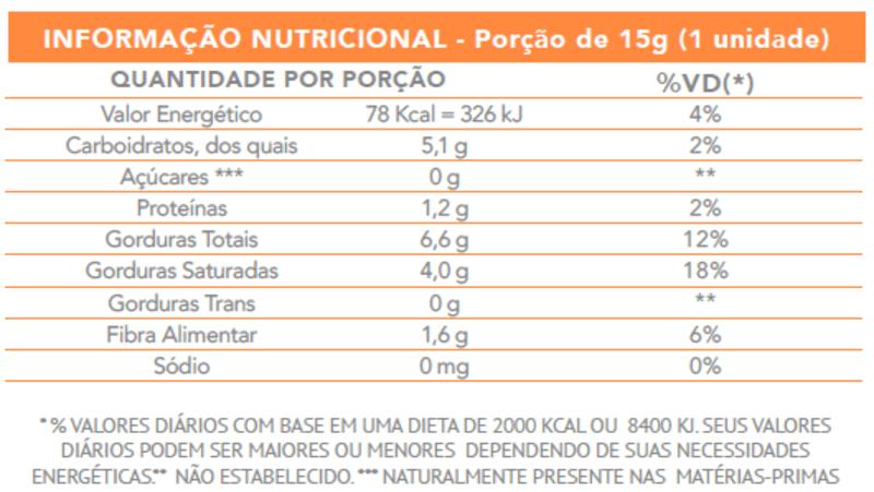 Bombom de chocolate amargo zero vegano - Flormel - cx c/ 18 un.