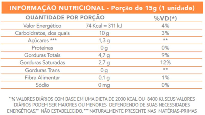 Bombom de chocolate branco c/ cranberry zero vegano - Flormel - cx c/ 18 un.