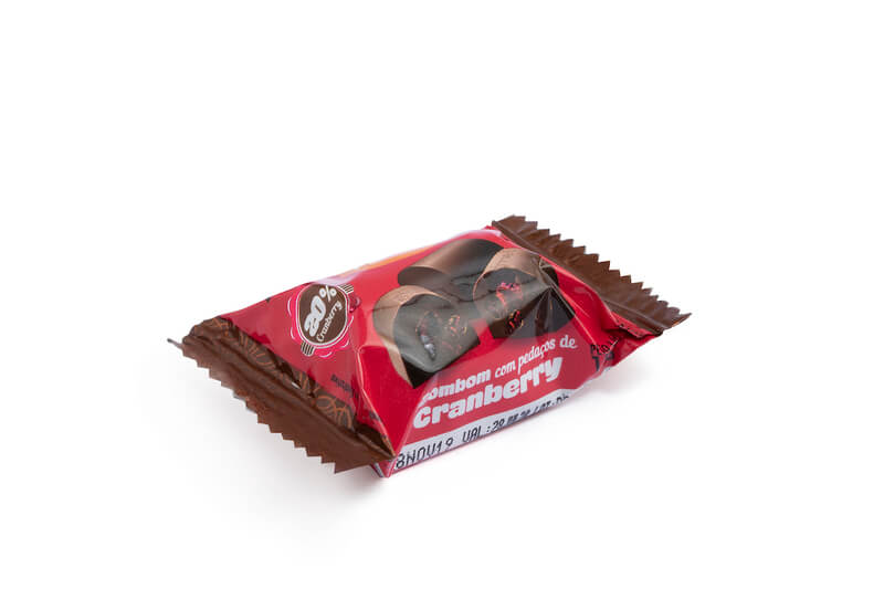 Bombom de chocolate ao leite c/ cranberry zero - Flormel - un