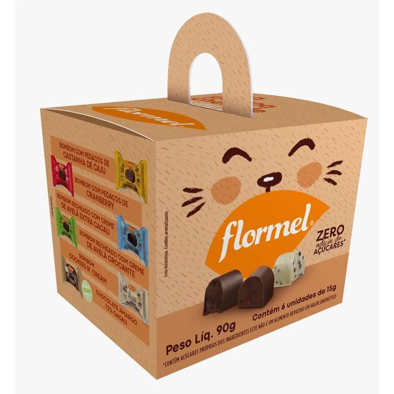 Kit de páscoa c/ bombons variados - Flormel - 01 cx c/ 06 bombons