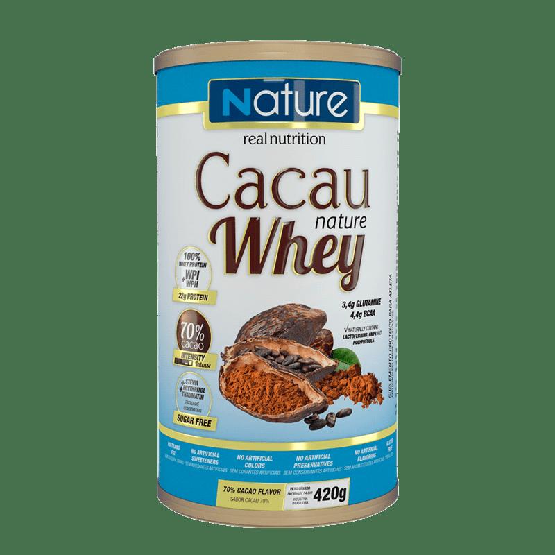 Whey sabor cacau 70% linha nature 420 g - Nutrata - 01 un
