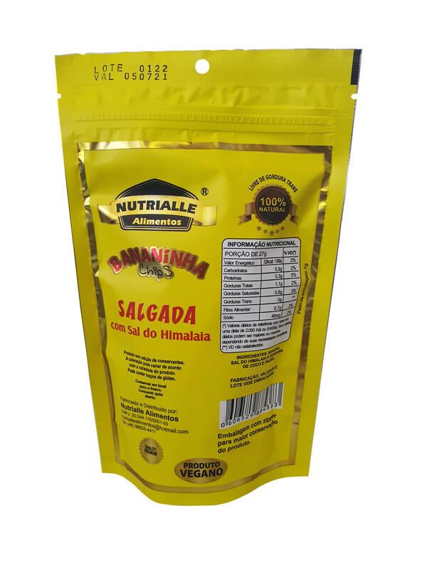 Chips de banana salgada 55 g - Nutrialle - 01 un