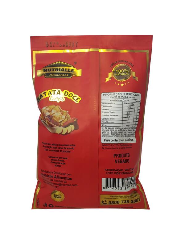 Chips de batata doce 42 g - Nutrialle - 01 un