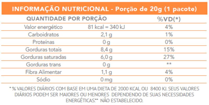 Chips de coco - Flormel - cx c/ 08 un.