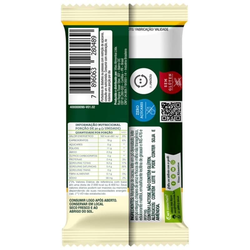 Chocolate branco c/ cereais zero - Vitao - cx c/ 18 un.
