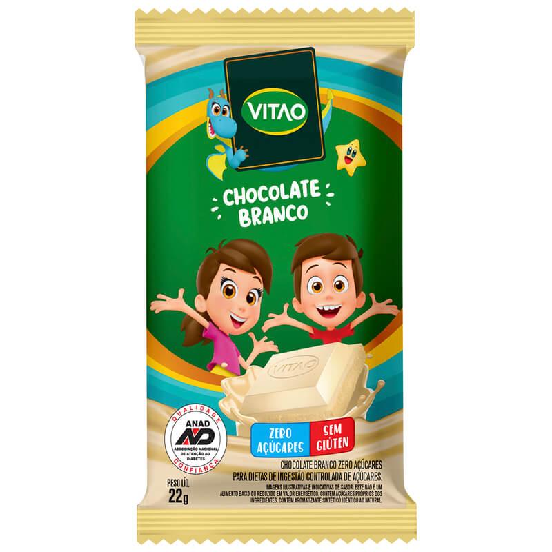 Chocolate branco zero linha kids 22g - Vitao - cx c/ 24 un.
