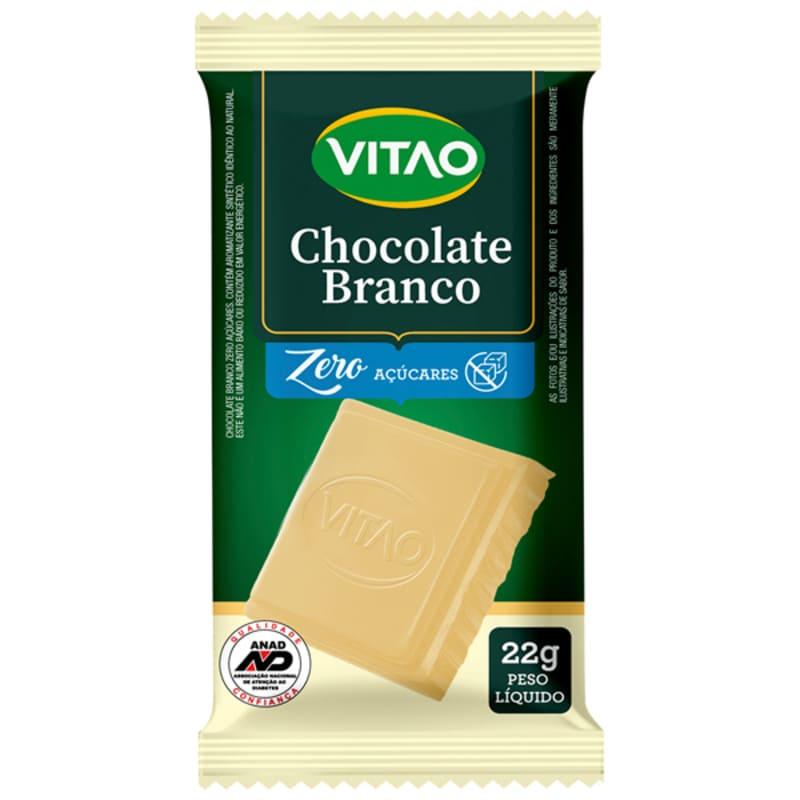 Chocolate branco zero - Vitao - cx c/ 24 un.