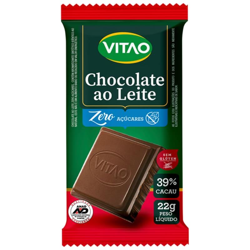 Chocolate ao leite zero - Vitao - un