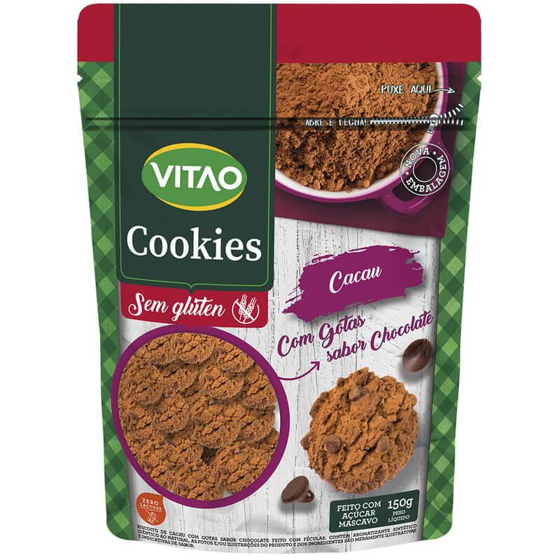 Cookie sem glúten sabor cacau 150g - Vitao - unidade