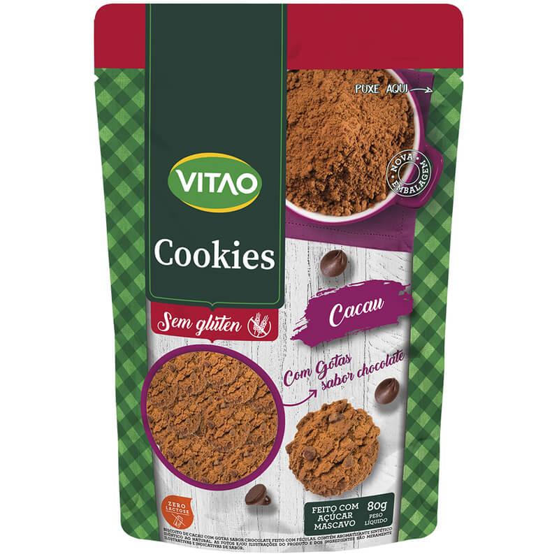 Cookie s/ glúten zero sabor cacau - Vitao - 01 un