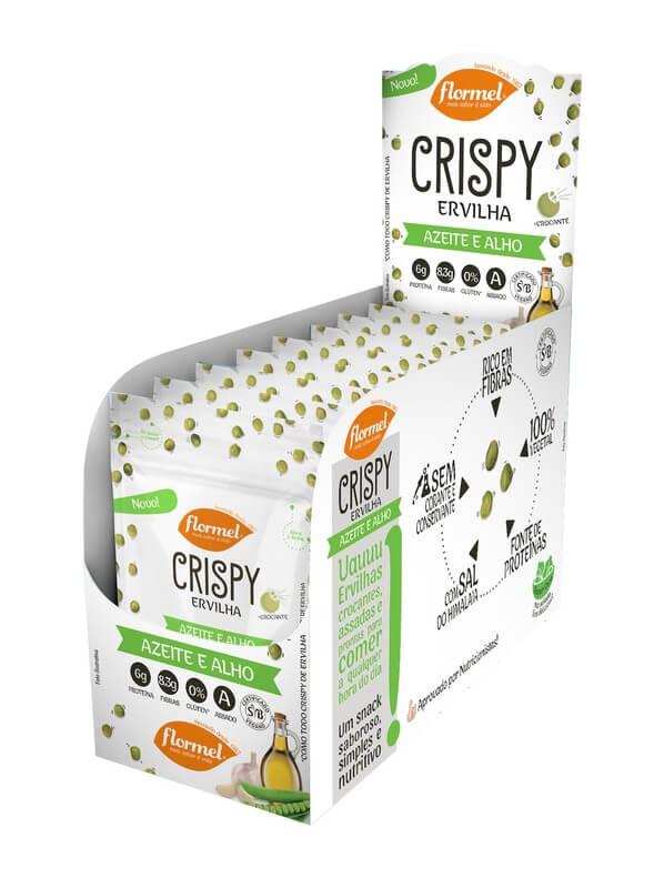 Crispy de ervilha c/ azeite e alho - Flormel - cx c/ 08 un.