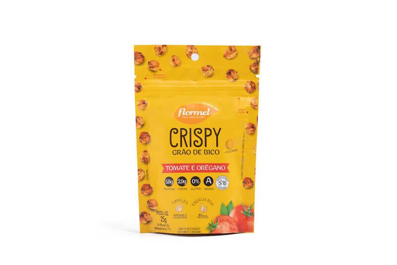 Crispy de grão de bico c/ tomate e orégano - Flormel - cx c/ 08 un.