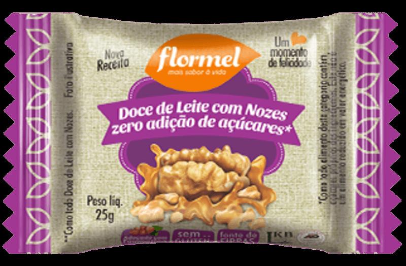 Tablete de doce de leite c/ nozes zero - Flormel - unidade
