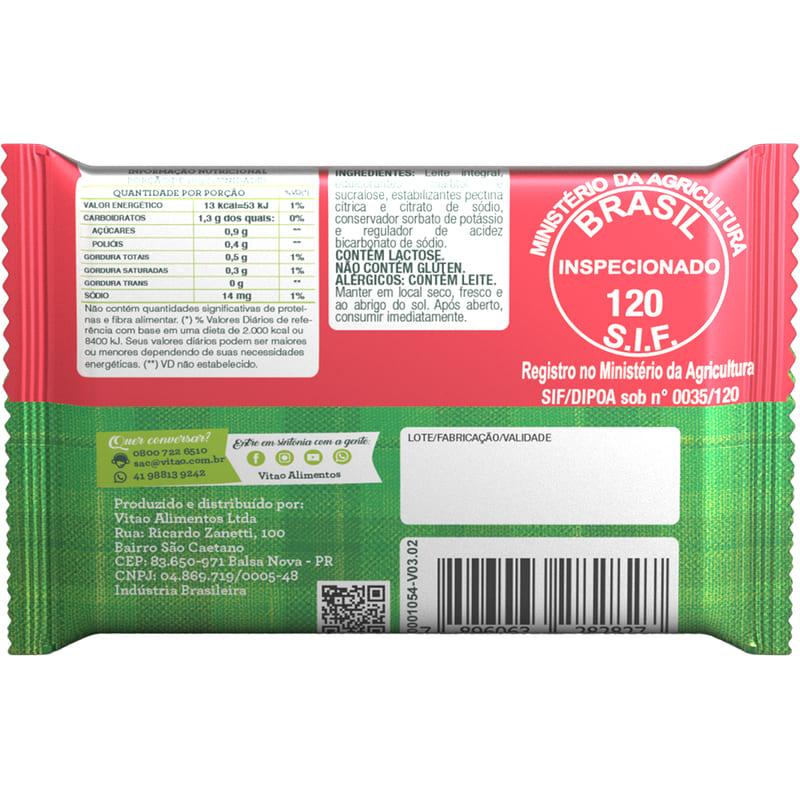 Tablete de doce de leite zero 18g - Vitao - caixa c/ 03 un