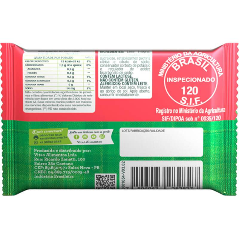 Tablete de doce de leite zero - Vitao - cx c/ 24 un.