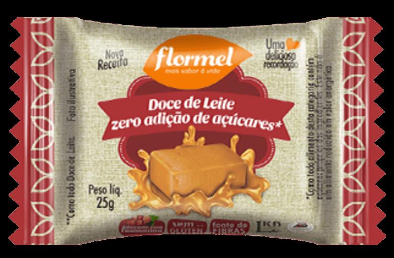 Tablete de doce de leite zero - Flormel - unidade