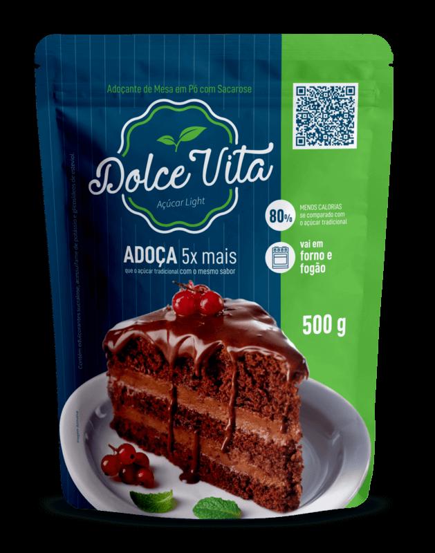 Adoçante de mesa com sacarose dolce vita 500g - Stevia Soul - 01 pouch