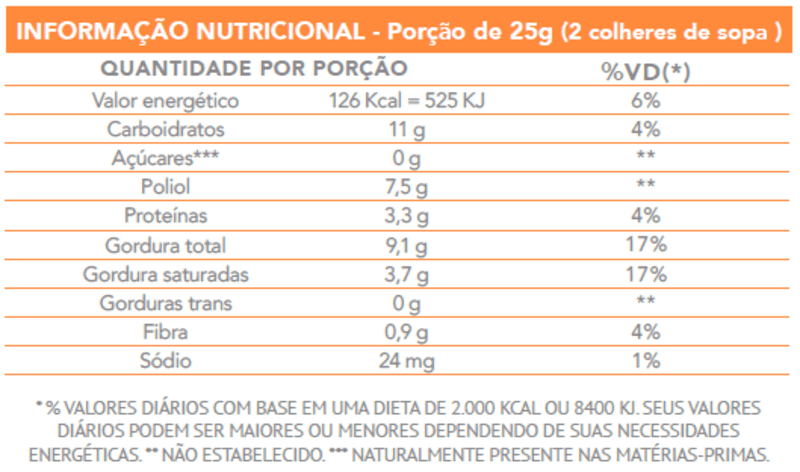 Drageado de chocolate ao leite yow sabor amendoim - Flormel - un