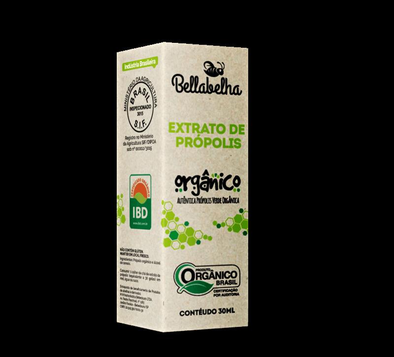 Extrato de própolis orgânico 11% seco orgânico gotas 30 ml - Bellabelha - un