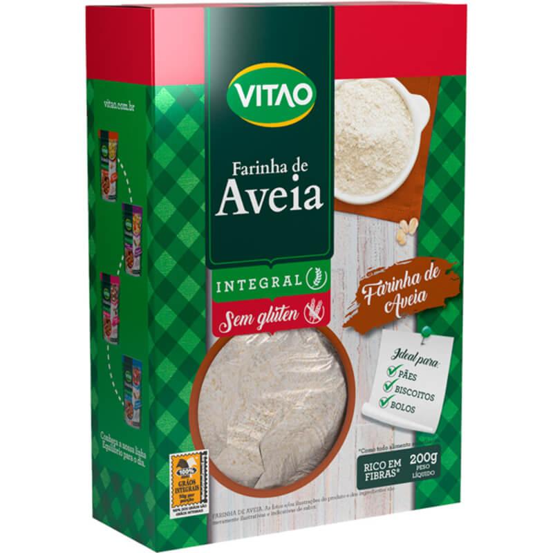 Farinha de aveia integral s/ glúten - Vitao - 01 un