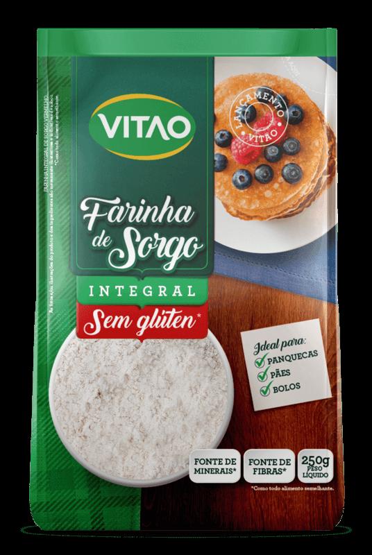 Farinha de sorgo integral s/ glúten - Vitao - 01 un