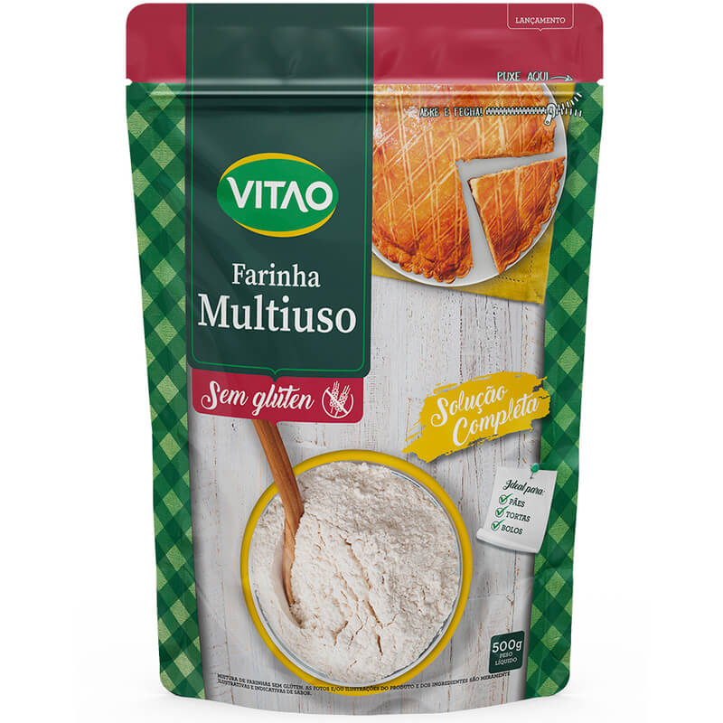 Farinha sem glúten mix multiuso 500g - Vitao - 01 un
