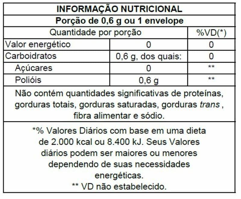 Adoçante sucralose c/ stevia fit sachê - Stevita - 01 cx c/ 50 sachês