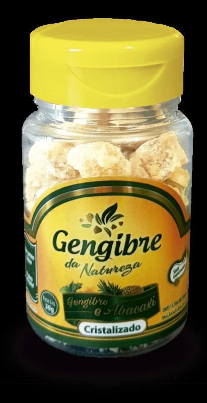 Gengibre cristalizado c/ abacaxi - Gengibre da Natureza - 01 un