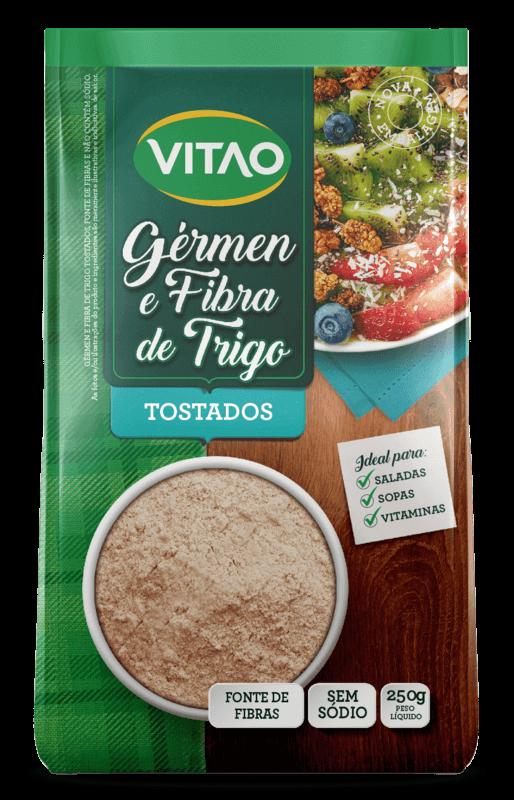 Gérmen e fibra de trigo tostados - Vitao - 01 un