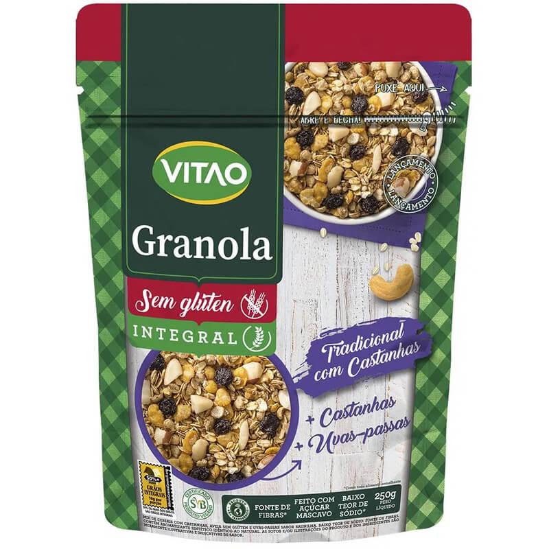 Granola sem glúten tradicional 250g - Vitao - un