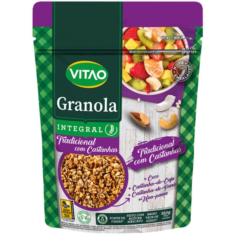 Granola tradicional integral sabor castanhas 250 g - Vitao - 01 un
