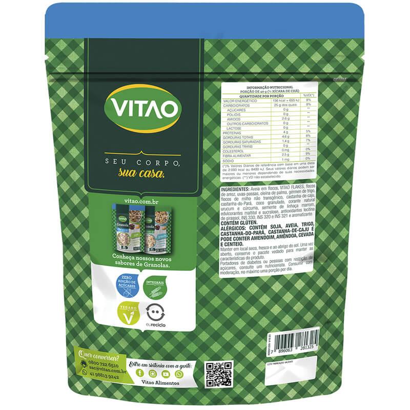 Granola tradicional integral zero sabor castanhas 800 g - Vitao - 01 un